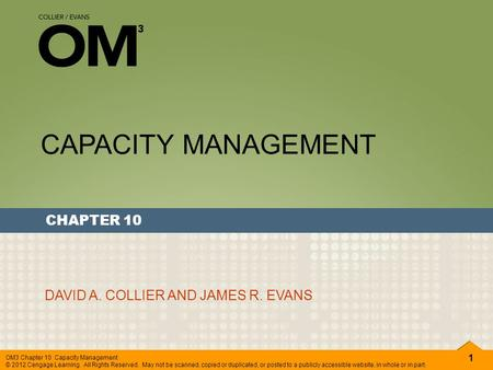 solution of chapter capacity planning of operation managment by jay heizer and barry render Operations management jay heizer paul render zu'bi al capacity planning 213 of customer wants and to identify alternative process solutions.