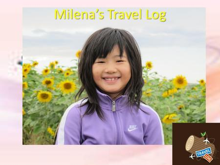 Milena's Travel Log. Flat Milena is flying to China.