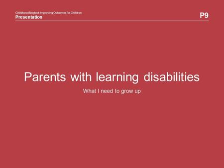 Parents with learning disabilities