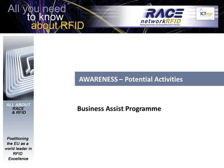 AWARENESS – Potential Activities Business Assist Programme.