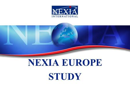1 NEXIA NEXIA EUROPE STUDY. The Future of entrepreneurship a mixture of men and women? Gender diversity a corporate performance driver (Mc Kinsey study)