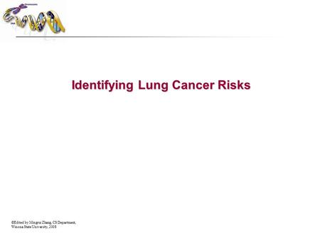 ©Edited by Mingrui Zhang, CS Department, Winona State University, 2008 Identifying Lung Cancer Risks.