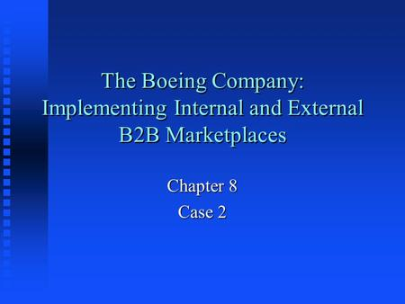 boeing austraila limited eprocurement Australia limited – e procurement executive summary as russell menere, i  recommend the management of boeing australia limited to follow.