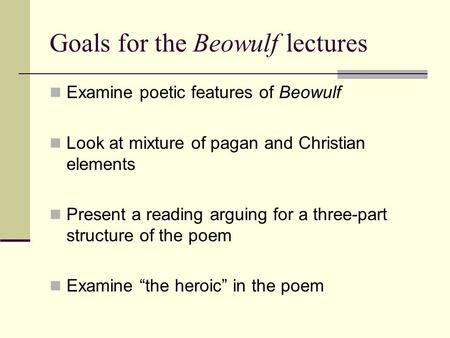 beowulf christianity and paganism Before the advent of christianity in england, the anglo-saxon literature was pagan or secular so is the case with beowulf the work is definitely.