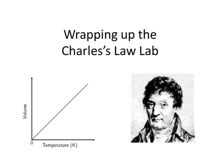 Charles s law experiment write up