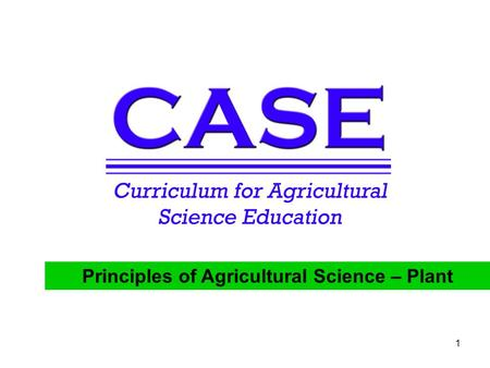 Principles of Agricultural Science – Plant 1. 2 A Plant's Grocery Store Unit 6 – The Growing Environment Lesson 6.1 Plant Food Principles of Agricultural.