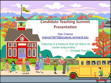 PSOE CANDIDATE TEACHING SUMMIT PRESENTATION FORMAT Candidate Teaching Summit Presentation Dee Chance