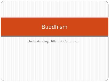 Understanding Different Cultures… Buddhism. After Viewing: Students will understand the basic ideas related to Buddhism Students will understand the idea.