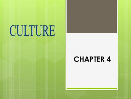 CHAPTER 4. SOCIETY  People who interact in a defined territory  And share a culture Society & Culture-> Interdependent.