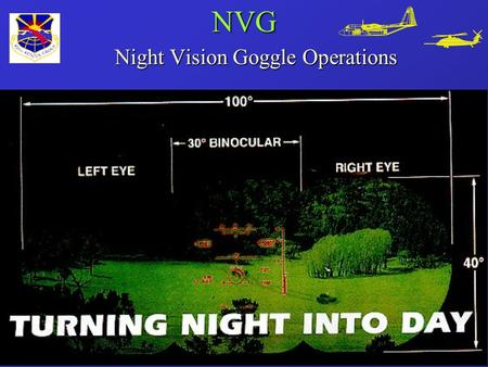 NVG Night Vision Goggle Operations. Presented By: Capt John Withelder 39th Rescue Squadron.