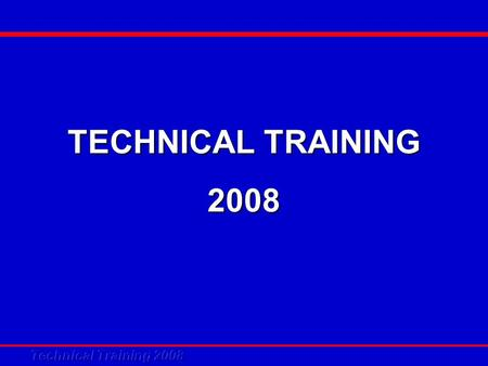 TECHNICAL TRAINING 2008. Inverter Mini Chiller System and Control.