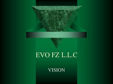 EVO FZ L.L.C VISION. Mission Statement  Based in the heart of the Dubai Media City & Internet City, EVO is a full fledged IT solution provider and retail.