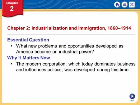 Chapter 2: Industrialization and Immigration, 1860–1914