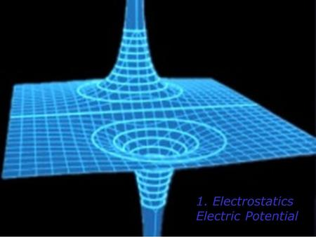 1. Electrostatics Electric Potential. Recall… Gravitational Potential Energy or Elastic Potential Energy Now… - + + + + + + + + + ++ Electric Potential.