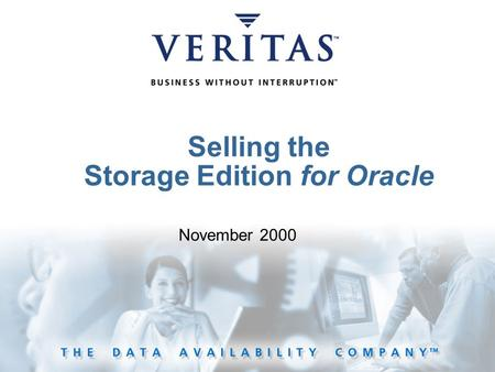 Selling the Storage Edition for Oracle November 2000.