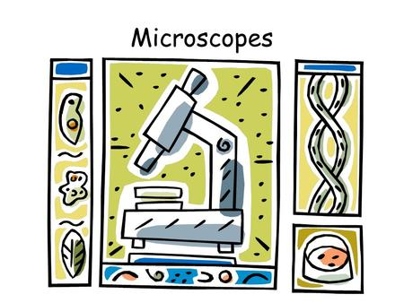 Microscopes. Some Microscope Parts (lens to 'see' through; Magnifies 10x) (Carry microscope) (lenses close to object/specimen; Magnifies 10x, 20x, or.