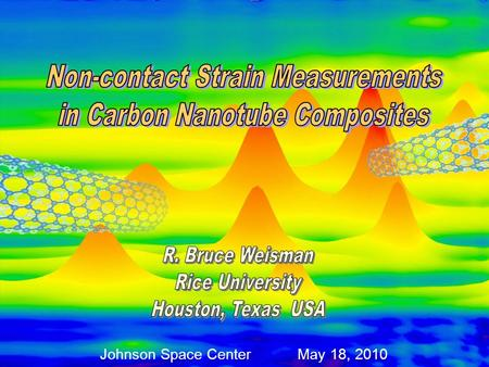 Johnson Space Center May 18, 2010. Single-walled Carbon Nanotube (SWCNT) Carbon Nanostructures C 60 (Buckminsterfullerene)