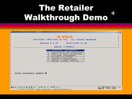 The Retailer Walkthrough Demo Inventory Management Retailer in simple steps.