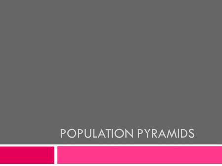POPULATION PYRAMIDS. Different Ages, Different Roles:  We play different roles at each stage of our lives. Demographers identify 3 important stages: