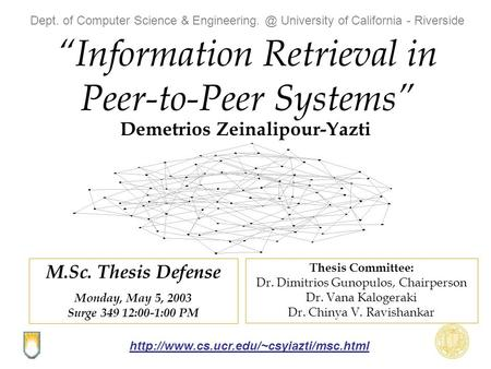 thesis information retrieval Semantic arabic information retrieval framework a thesis submitted in partial fulfillment of the requirements for the degree of master in information systems.