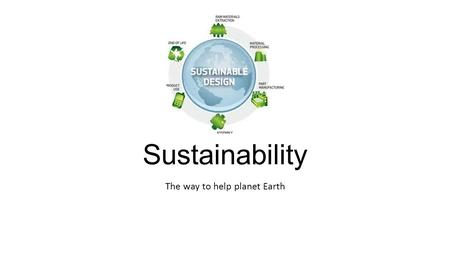 The way to help planet Earth