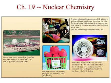Ch. 19 -- Nuclear Chemistry. Discovery of Radioactivity  Radioactivity was first observed in ______by.