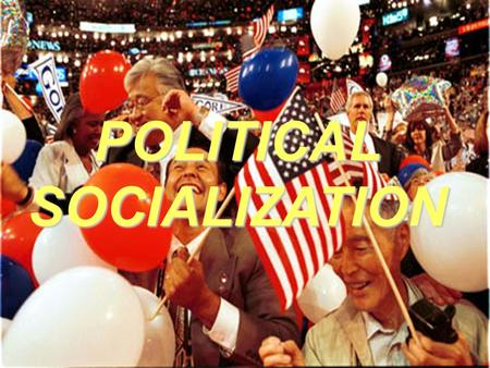 POLITICALSOCIALIZATION. What is Political Socialization?