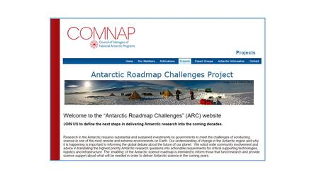 Imperial College London The Antarctic Roadmap Challenges (ARC) Project WORKSHOP Tromsø, Norway 23–25 August 2015.