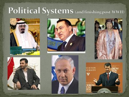 Last class Strategies for Consolidating Power Cases: Turkey, Iran, Egypt Today  Iraq, Syria, Jordan, Lebanon in brief (see readings for comprehensive.