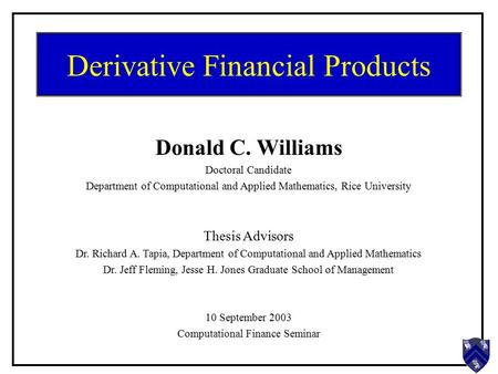 Thesis mba finance