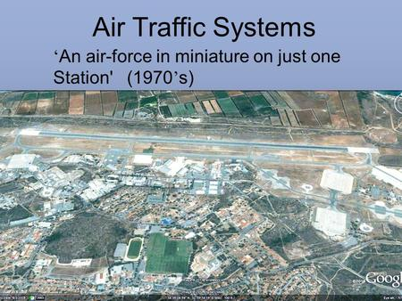 Air Traffic Systems 'An air-force in miniature on just one Station' (1970's) .AVI file with voice over Watchman is a Primary Airfield Surveillance radar.