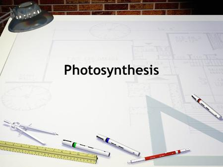 Photosynthesis. -the transfer of energy from sunlight to organic molecules -occurs in green plants, algae and some bacteria - involves a complex series.