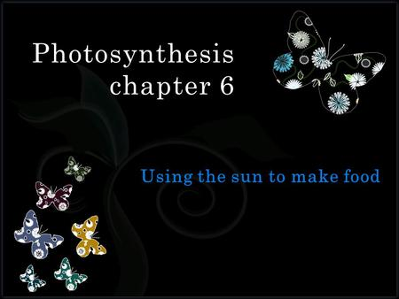 7 Photosynthesis chapter 6. 1. Which of the following directly uses the sun's energy to make its own food?