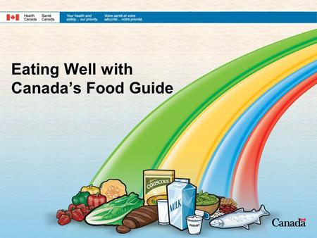Eating Well with Canada's Food Guide. 2 History of Canada's Food Guide First Food Guide was developed in 1942 The Food Guide has changed many times over.