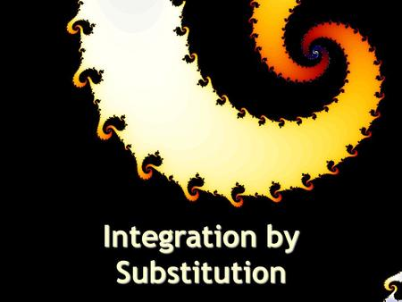 Integration by Substitution. The chain rule allows us to differentiate a wide variety of functions, but we are able to find antiderivatives for only a.