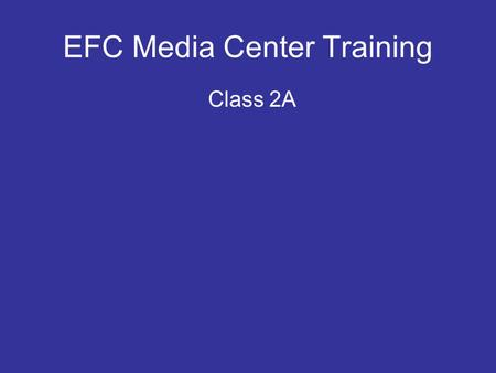 EFC Media Center Training Class 2A. Sound Input Levels Microphone Level Signals Line Level Signals Speaker Level Signals Balanced Inputs Stereo Inputs.