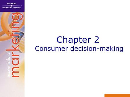 Chapter 2 Consumer decision-making. Learning objectives 1Explain why marketing managers should understand consumer behaviour 2 Analyse the components.