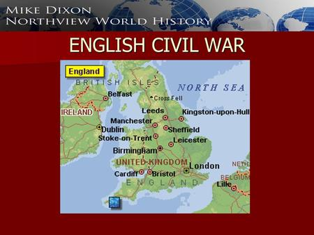 ENGLISH CIVIL WAR. The Beginning of Trouble Started when James I took the throne after Elizabeth died Started when James I took the throne after Elizabeth.