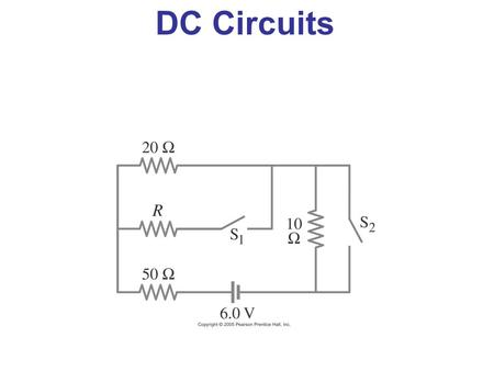 DC Circuits. EMF and Terminal Voltage Electric circuit needs a battery or generator to produce current – these are called sources of emf. Battery is a.