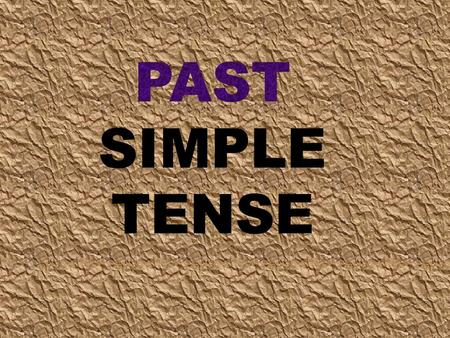 We use the past simple to describe a finished event at a specific time in the past. WHEN?  Last year  Last week  Last month  YESTERDAY  …AGO  in.