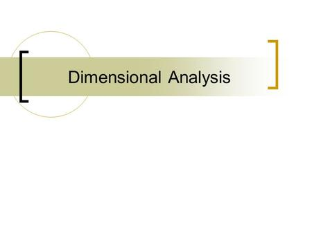 Dimensional Analysis. What is Dimensional Analysis? Let's think about a map… Map-small scale representation of a large area How is that helpful? Thankfully,