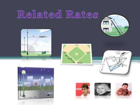Related rates problems involve finding a rate at which a quantity changes by relating that quantity to other quantities whose rates of change are known.