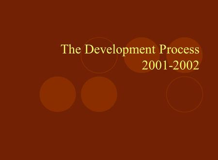 The Development Process 2001-2002. Finding the Funds $3 Million Dollar Title V Cooperative Grant with New York City College of Technology over Five Years.