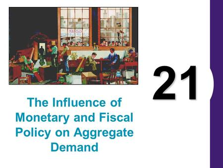 21 The Influence of Monetary and Fiscal Policy on Aggregate Demand.