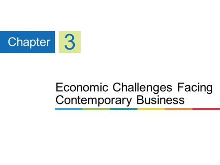 Economic Challenges Facing Contemporary Business Chapter 3.