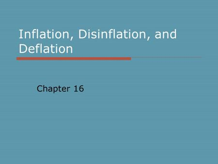Inflation, Unemployment and Monetary Policy Mankiw ppt