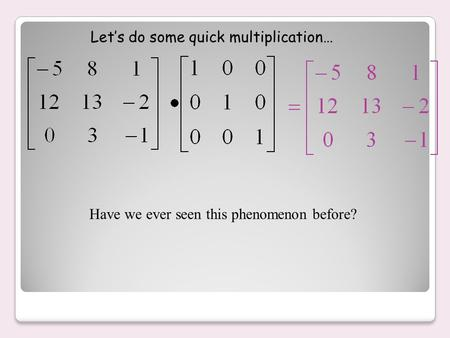 Have we ever seen this phenomenon before? Let's do some quick multiplication…