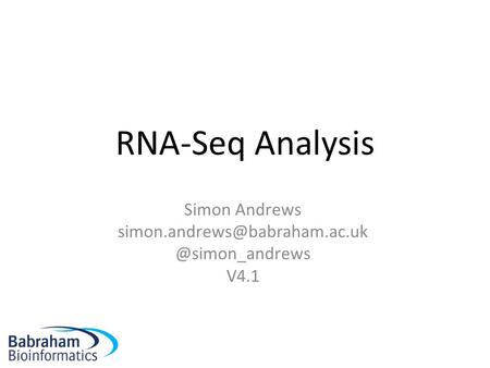 RNA-Seq Analysis Simon V4.1.