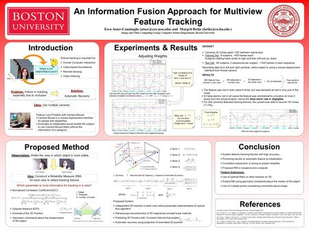 An Information Fusion Approach for Multiview Feature Tracking Esra Ataer-Cansizoglu and Margrit Betke ) Image and.