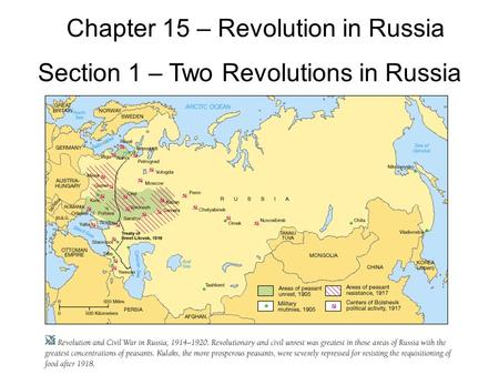 Chapter 15 – Revolution in Russia Section 1 – Two Revolutions in Russia.